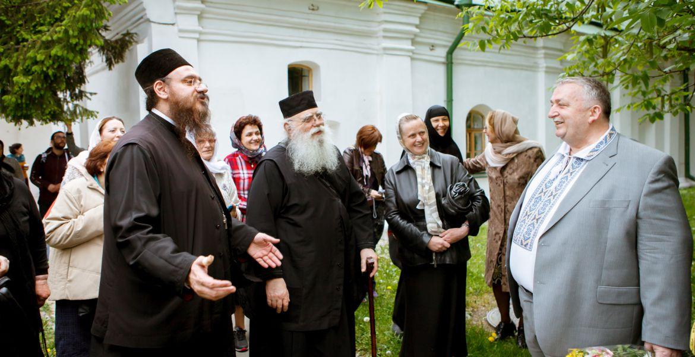 Зустріч в Києво-Печерській Лаврі з делегацією греків із Афін