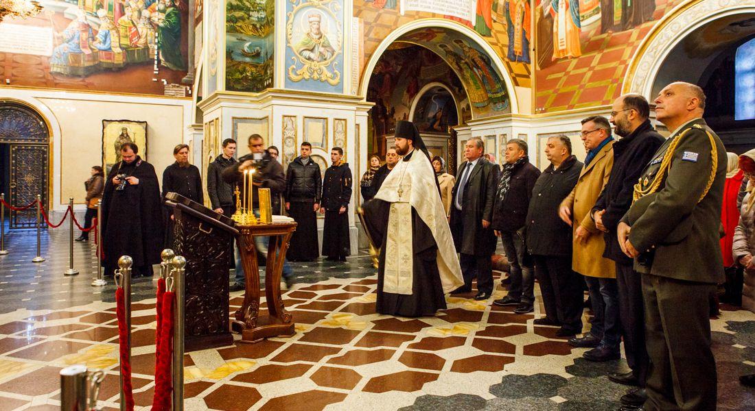 Ко Дню Охи: Панихида в Успенском соборе Киево - Печерской Лавры