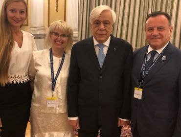 Meeting of the Rector of the DUI VM Bezchastnyi with the President of the Hellenic Republic Prokopis Pavlopoulos